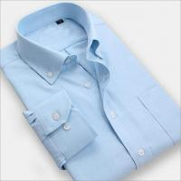 Cheap Men Shirt Men wear solid color long-sleeved business shirt iron shirts for sale