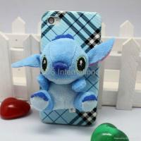 Cheap Stereo various 3D lint cartoon hard case for iphone 4G 4S for sale