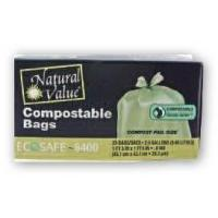 Cheap Trash Bags Natural Value Compostable Trash Bags for sale