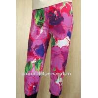180 GRAM ELASTON SOFT,REACTIVE PRINTED 3/4 PANT WITH BODY FIT.