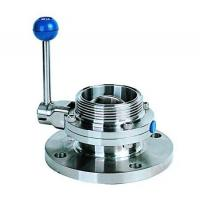 Cheap Single flange single threaded butterfly valve for sale
