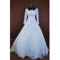 Cheap Basque wedding dress for sale