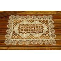Cheap Unique Hand Bobbin Lace butterfly Tray Cloth/placemat-off white for sale