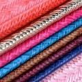 Straw Mat Embossed Pvc Leather For Lady's Backpacks And Handbags