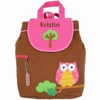 Cheap Monogrammed Quilted Backpack by Stephen Joseph - Owl Backpack for sale
