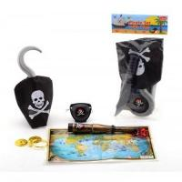 Pirate Toy Set with Hook and Knife, 6 pieces