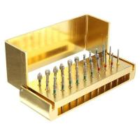 Cheap Dental Diamond Burs Drill + Disinfection Bur Block High Speed Handpieces 30pcs for sale