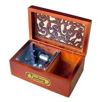 Laxury Creative Engraved Wooden Musical box