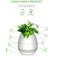 Cheap Wireless Bluetooth Speaker Smart Music Playing Flowerpot with Colorful Light Night for sale