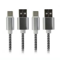 High Quality Metal Nylon Braid Micro USB Data And Charging Cable