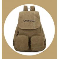 Cheap Popular Waxed Canvas Backpack for Girls, Fashionable Casual Gear Backpack Factory Price for sale
