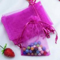 Cheap Jewelry packaging custom logo organza gift pouch for sale