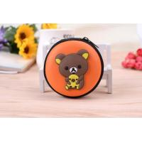 Cheap Waterproof EVA surface Rilakkuma bear cartoon earphone wire coin wallet for sale