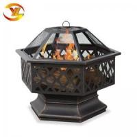Cheap Hex-Shaped outdoor fire bowl Lattice Fire Pit for sale