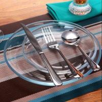 Dinner Plate, Clear 18-Piece Glass Dinnerware Service for 6