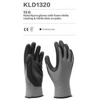 Cheap Param: Nylon/lycra gloves with foam nitrile coating & nitrile dots on palm. for sale