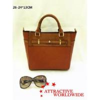 Cheap PU Leather Ladies Tote Bags with Hand Knitted Pattern for sale