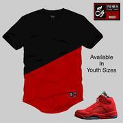 Elongated Essential Youth Tee to match Jordan 5 Red Suede