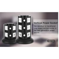 3 way electric rotating power strip outlet 360 degree Flexible socket