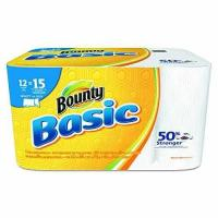 """Cheap Bounty 92972 Basic Select-A-Size Paper Towels, 5 9/10"""" x 11"""", 1-Ply, White Pack of 12 for sale"""
