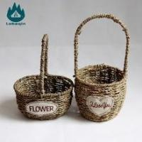 Cheap Natural Sea Grass Material Handcraft Seagrass Basket for sale