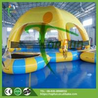 Infatable pool Name:Kids Inflatable Water Pool With Cover, Trampoline