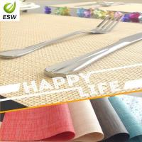 Cheap 2014 Hot Sell Design Vinyl Woven Placemat for sale