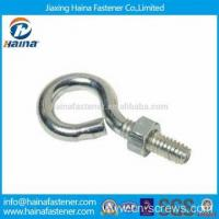 Cheap Stainless steel hook bolt long stub eye bolt with nut for sale