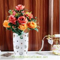 Faux Classic Lover's Rose 14 heads/50cm Flower sprays
