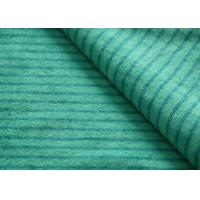 Cheap Eco - Friendly Printted Striped Minky Fabric Flame Retardant Farland for sale
