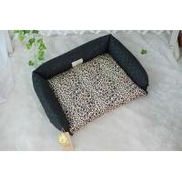 Cheap Double use Leopard Print Dog Bed for sale