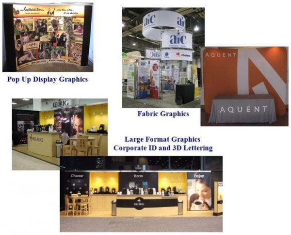 Exhibition Booth Accessories : Trade show accessories display graphics and exhibit booth