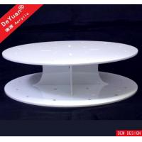 Cheap Round Cake Stand White Cupcake Stand / Round Display Stands Wedding Party Decorating for sale