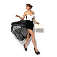 Cheap Women Solid Straight Short Chiffon Polyester ... for sale