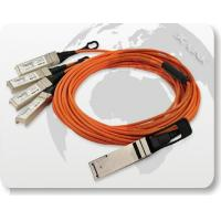 Cheap 40G QSFP to 4x10G SFP+ Parallel Fan-Out Fiber Cable for sale